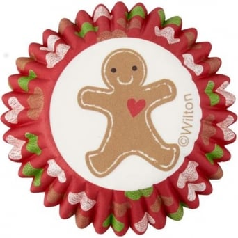 Gingerbread Merry And Bright Mini Christmas – Baking Cups x 100