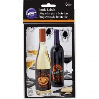 Halloween Bottle Labels Pack Of 6