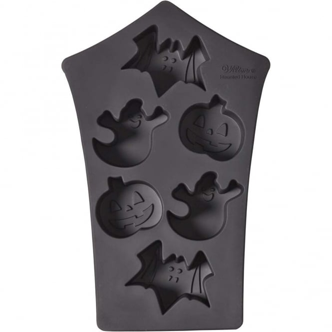 Wilton Haunted House 6 Cavity Halloween Silicone Mould