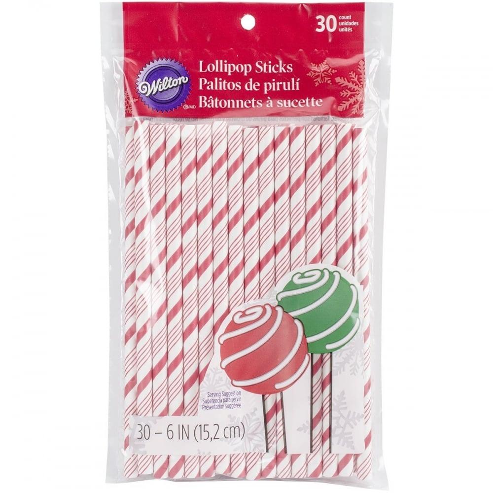 Wilton Red & White Stripes - Cake Pop Sticks - Cake ...