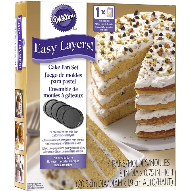 Wilton Round Easy Layers Cake Pan Set