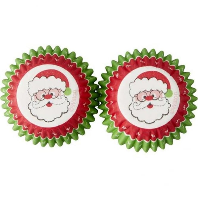 Wilton Santa Merry And Bright Mini Christmas - Baking Cups x 100