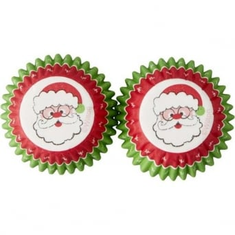 Santa Merry And Bright Mini Christmas - Baking Cups x 100