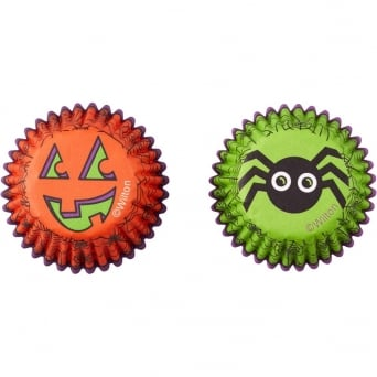 Spider And Pumpkin Pack Of 100 Mini Halloween Baking Cups
