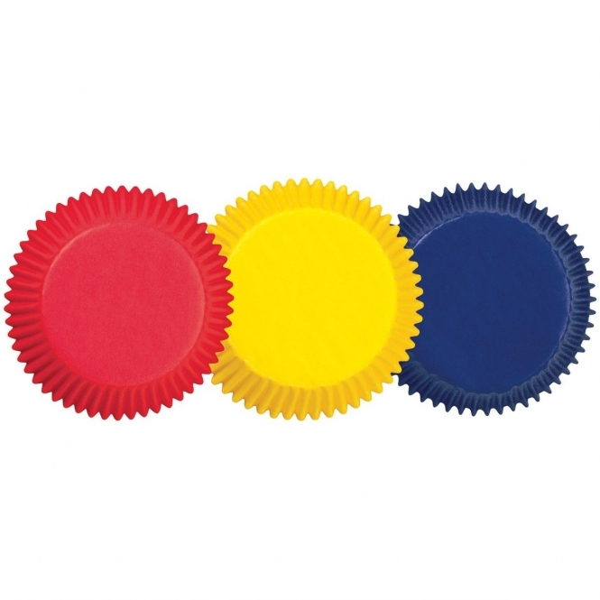 Wilton Standard Primary Colours Baking Cases x 75 Cups