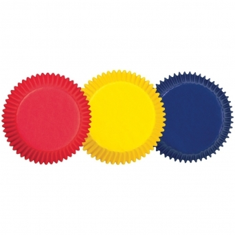 Standard Primary Colours Baking Cases x 75 Cups