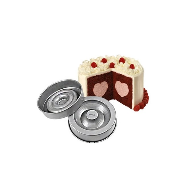 Wilton  Tasty Frill Heart Cake Pan Set