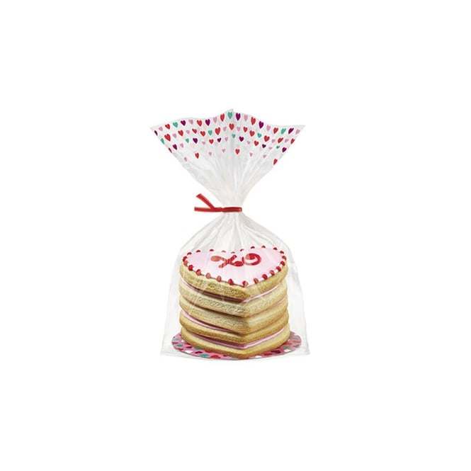 Wilton  Valentine Cupcake And Cookie Treat Wrap x 8
