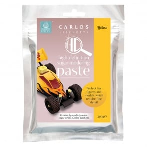 Yellow Carlos Lischetti HD Sugar Modelling Paste 200g - Squires Kitchen